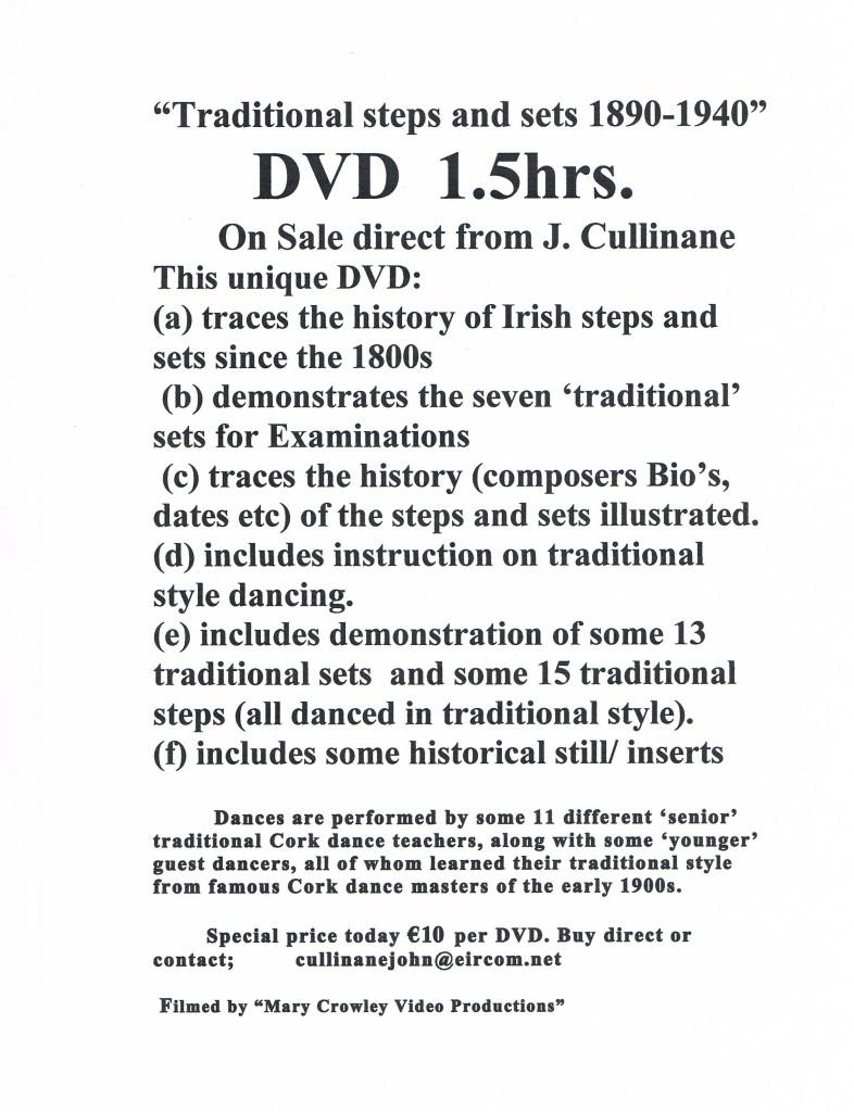 John Cullinane DVD sale